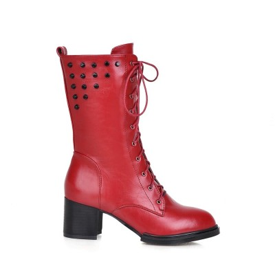 S. Romance woman boots mid calf puls size 33-43