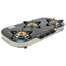 Rich Laxmi 3 gas burner  stove toughened glass