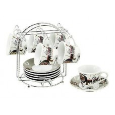 Classic White Tea Cup set with floral prints