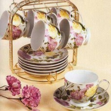 Ordinary Flower Design Tea Cup Set
