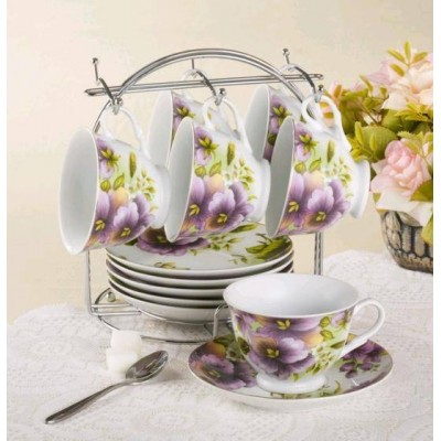 White Tea Cup & Saucer Set