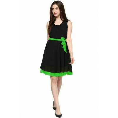 Women's Black Skater Dress