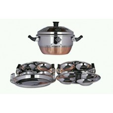 Stainless Steel Idli Cooker 4 Plate