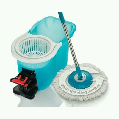 Spin Mop with 2 Microfiber Heads 360 Degree