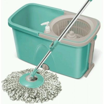 360 Degree Spin Mop with 2 Microfiber Heads