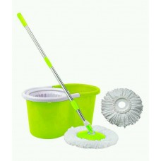 Spin Mop with 2 Microfiber Heads