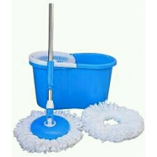 Mop with Microfiber Heads Blue