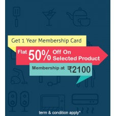 Congratulations 1 year 50%  discount member ship card 10%-15% others brand products